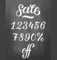 set sale lettering numbers from 0 to 9 vector image vector image