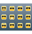 smile stickers with sunglasses vector image