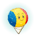 snow cone cartoon character smiling vector image vector image