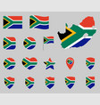 south africa flag icon set flag republic vector image vector image