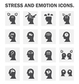 Stress icon vector image vector image