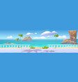 summer tropical landscape with sea and seafront vector image vector image