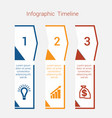 timeline infographic for three position vector image vector image