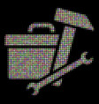 toolbox halftone composition of dots vector image