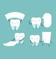 tooth and text box of dental concept vector image