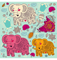Various elephants vector image vector image