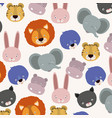 white background pattern with set color face cute vector image vector image