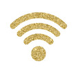 wi-fi icon with glitter effect isolated on white vector image vector image