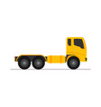yellow tractor truck trailer long vehicle with vector image vector image