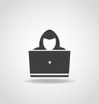 Hacker icon vector image