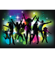 Young people on the party vector image