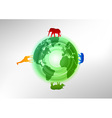 animals on the world vector image