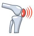 arthritis of knee icon cartoon style vector image