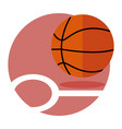 basketball game emblem sport graphic vector image vector image