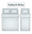 bedding set realistic mockup vector image