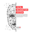 biometric identification or facial recognition vector image