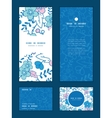blue and pink kimono blossoms vertical vector image vector image