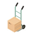 box cart icon isometric style vector image vector image
