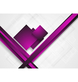 Bright abstract tech design vector image vector image