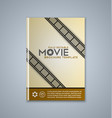 Brochure cover template vector image