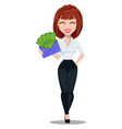 businesswoman cartoon character vector image vector image