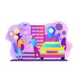 carsharing service concept vector image vector image
