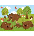 Cartoon Bears vector image vector image