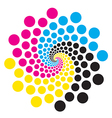 Circle With Print Colors vector image vector image