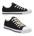 classic sneakers converse fashionable footwear vector image