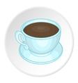 Coffee cup icon cartoon style vector image
