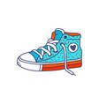 colorful fashion sneakers cartoon icon sketch vector image vector image