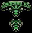 crocodiles mascot logo vector image vector image