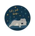 cute koala bear sleeps on tree modern kids vector image vector image