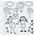 doodle elements vector image vector image