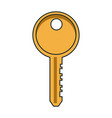 door key isolated vector image vector image