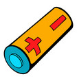 electronic cigarette battery icon cartoon vector image vector image