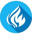 fire bonfire flame circle shape vector image