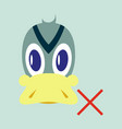 flat icon in flat style duck vector image vector image