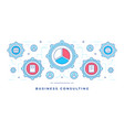 flat line banner with gears vector image