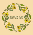 floral frame with summer flowers vector image vector image
