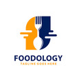 food technology logo design vector image vector image