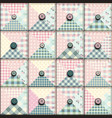 geometric patchwork pattern vector image
