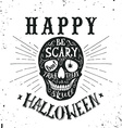 Hand drawn Happy Halloween lettering vector image