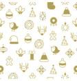 happy christmas symbols seamless pattern vector image