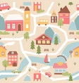house village with river seamless pattern texture vector image vector image