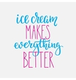 Ice cream shop promotion motivation advertising vector image vector image
