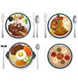 International food vector image vector image