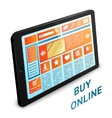 Internet shopping tablet vector image
