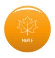 maple leaf icon orange vector image