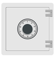 Metal safe icon vector image vector image